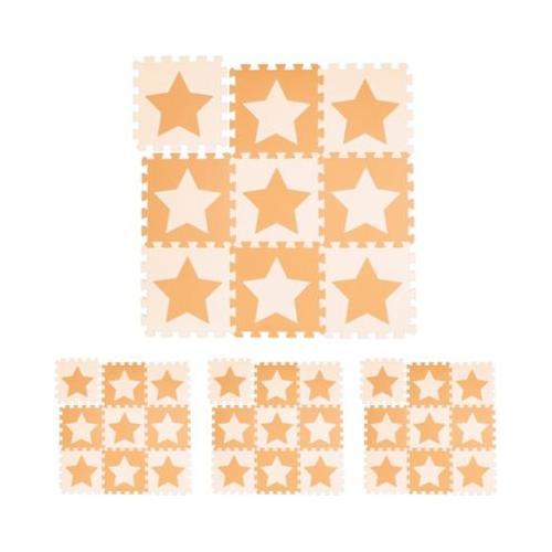 36 x Puzzlematte Sterne orange Kinder Spielmatte Krabbelmatte Spielunterlage