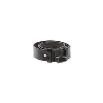 Nixon Leather Belt: Black Solid Accessories - Size Small