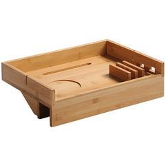 KESPER for kitchen & home Tablett, (1 tlg.), zum flexiblen Anklemmen an den Bettrand beige Tablett Tischaccessoires Geschirr, Porzellan Haushaltswaren