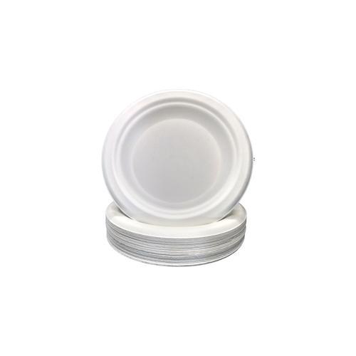 Mayax 1000 Zuckerrohr Teller 15cm stabiler Plastikersatz abbaubares Einweggeschirr Einwegteller rund