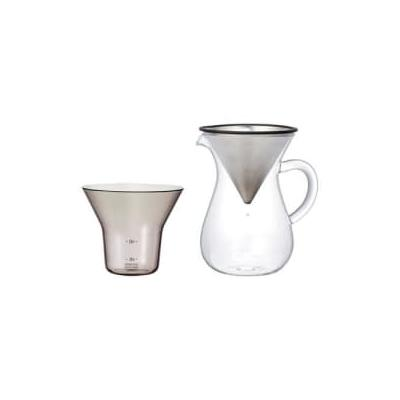 Kinto - Scs 04 Cc St Coffee Carafe Set Stainless Steel - 300ml