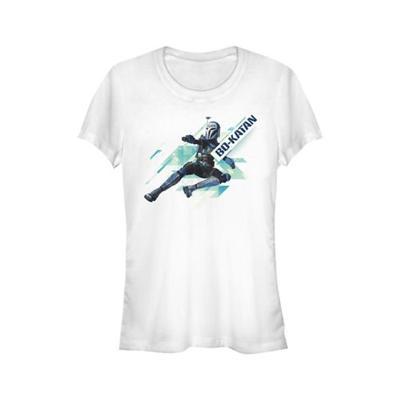 Star Wars White Clone Wars Bok Angled Graphic T-Shirt