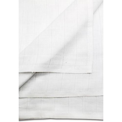 25er Set Passiertücher / Knödeltücher 80 x 80 cm weiß Baumwolle