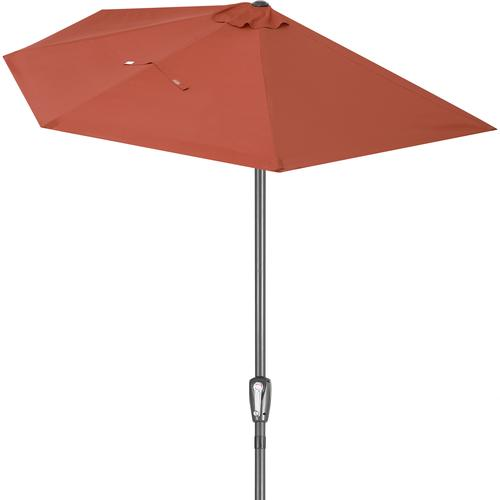 Kingsleeve Sonnenschirm halbrund 2,7m UV-Schutz 50+ creme
