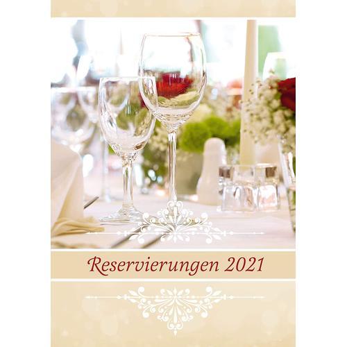 Exklusives Reservierungsbuch 2021 Gastronomie, Gastro Planer, Terminbuch, Hardcover, A4, 572 Seiten