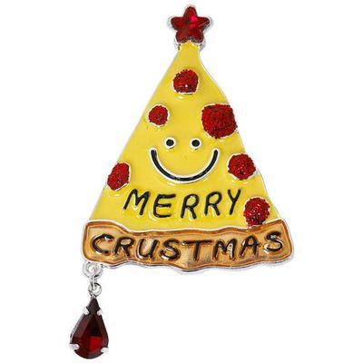 Brighten the Season Merry Crustmas Pizza Pin