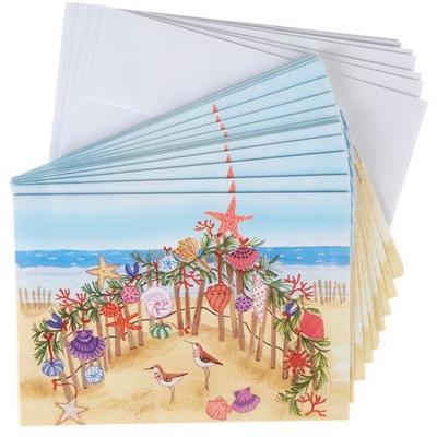 Brighten the Season Sandpiper Beach Greeting Cards