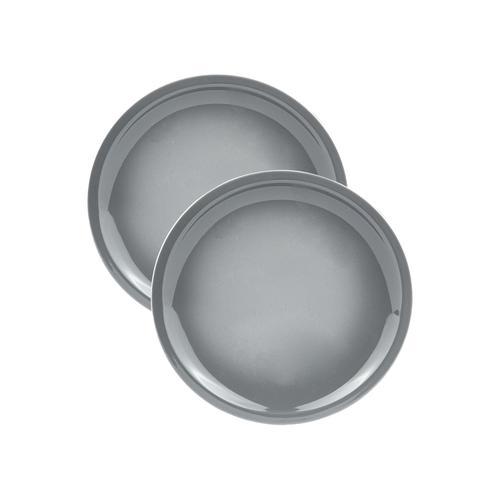 ERNESTO® Geschirr Set, aus Porzellan (grau, 2er Teller)