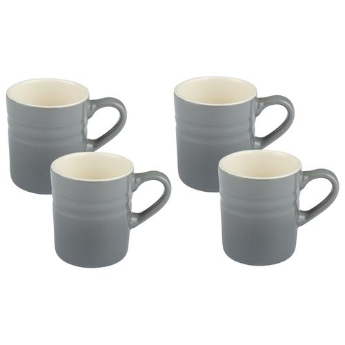 ERNESTO® Geschirr Set, aus Porzellan (grau, 4er Espressotassen)