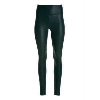 Boston Proper - Faux-Leather Pull-On Legging - Dark Green - Xx Small