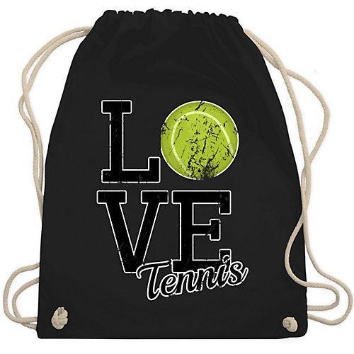Tennis Love Tennis Turnbeutel Jungen schwarz Kinder
