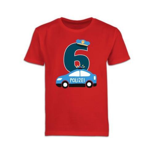 Kindergeburtstag Geburtstag Geschenk Polizei Geburtstag 6 T-Shirts Kinder rot Kinder