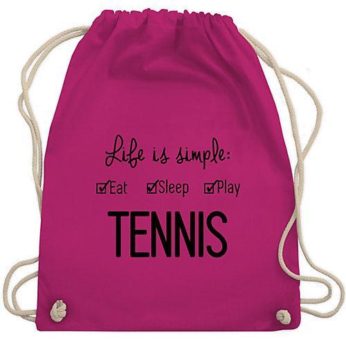 Tennis Life is simple Tennis Turnbeutel Jungen fuchsia Kinder