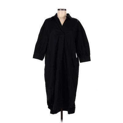 Nordstrom Casual Dress - Shift: Black Solid Dresses - Used - Size Medium