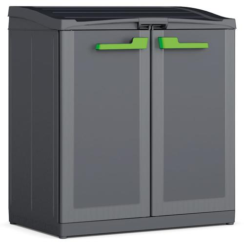 Keter Recycling-Schrank Moby Compact Recycling System Graphitgrau