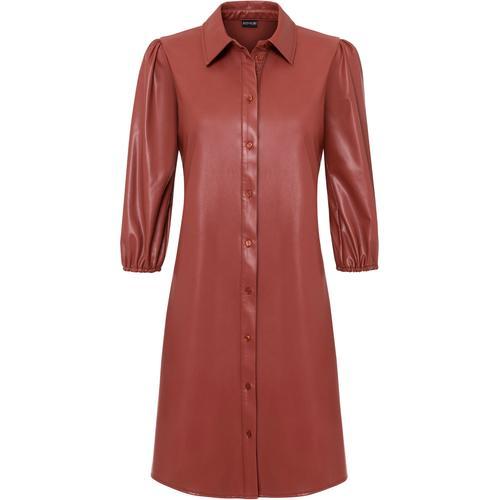 Lederimitat-Kleid