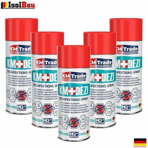 Desinfektionsmittel KM-DEZI 5 x 400ml Spray Hautdesinfektion Handdesinfektion