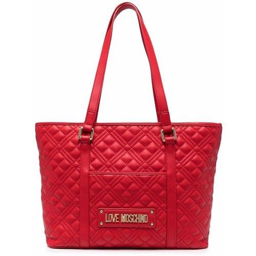 Love Moschino Handtasche mit Logo-Schild