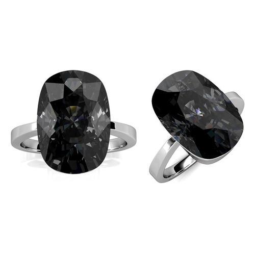 Damen-Ring mit Kristall: Gr. 54