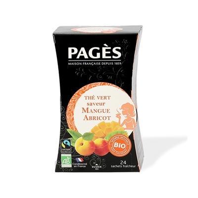 Thé vert mangue abricot 24 sache...