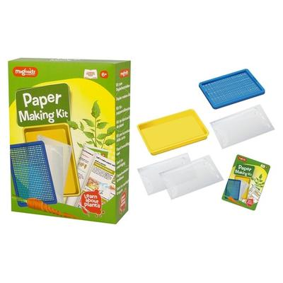 Kit de fabrication de papier pour enfants avec ressources éducatives : x1