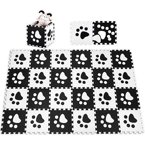 Spielmatte Puzzlematte 24 Stück schwarz/weiß