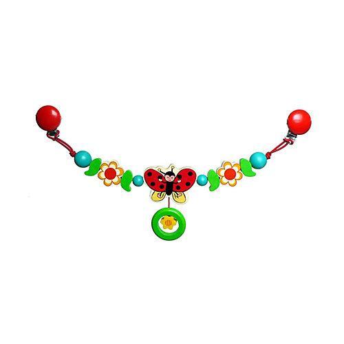 Babyspielzeug Kinderwagenkette Ladybird bunt