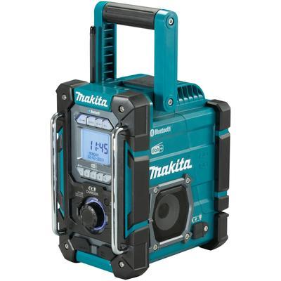 Makita Baustellenradio DMR301, (Digitalradio (DAB+)-AM-Tuner-FM-Tuner), ohne Akku und Ladegerät, empfängt DAB, DAB+, FM AM blau Audio SOFORT LIEFERBARE Technik