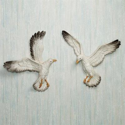 In Flight Seagull Accents Set White Set of Two, Set of Two, White