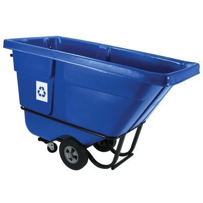 Rubbermaid FG130573BLUE 1/2 cu yd Trash Cart w/ 750 lb Capacity, Blue