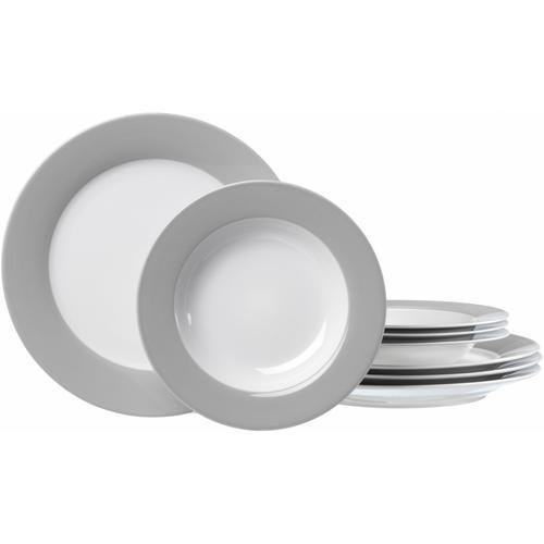 Ritzenhoff & Breker Tafelservice, (Set, 8 tlg.), Spülmaschinengeeignet grau Geschirr-Sets Geschirr, Porzellan Tischaccessoires Haushaltswaren Tafelservice