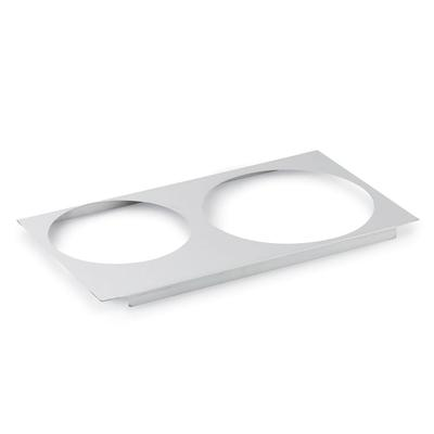 """Vollrath 72227 Adaptor Plate - Full-Size, (1)8 3/8"""" (1)10 3/8"""" Inset Hole, Stainless"""