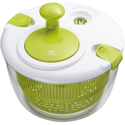 KING Salatschleuder, Ø 25 cm grün Siebe Schleudern Kochen Backen Haushaltswaren Salatschleuder