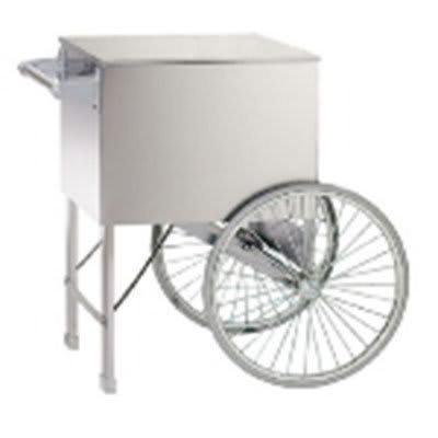 """Gold Medal 2015W Popcorn Cart w/ 2 Spoke Wheels, White, 38"""" x 27"""""""