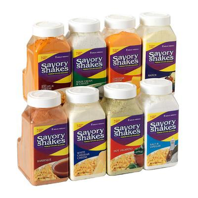Gold Medal 2383S Shake-On White Cheddar Cheese Flavor w/ (4) 18 oz Jars