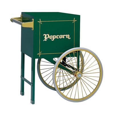 Gold Medal 2659HG Popcorn Cart w/ 2 Spoke Wheels, Hunter Green