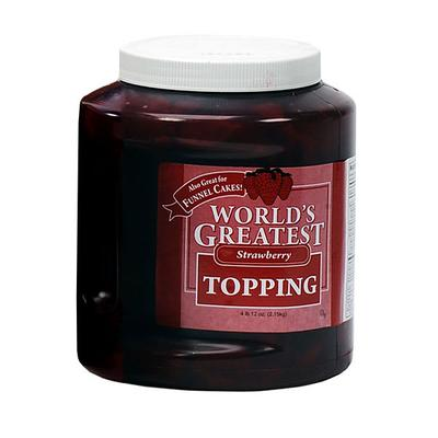 Gold Medal 5140 Ice Cream Topping w/ (3) 66 oz Jars, Strawberry