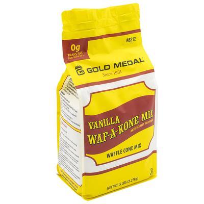 Gold Medal 8212 5 lb Vanilla Waf-A-Kone Mix, 6 Bags/Case