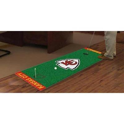 Fan Mats FAN-9016 Kansas City Chiefs NFL Putting Green Runner 18x72