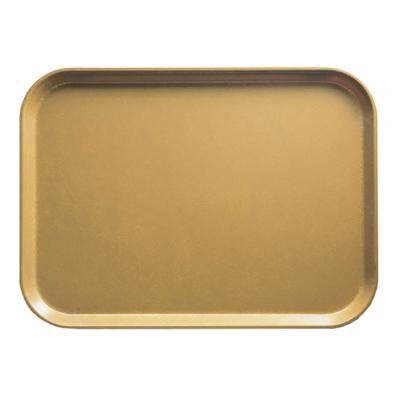 "Cambro 1014514 Fiberglass Camtray? Cafeteria Tray - 13 3/4""L x 10 3/5"" W, Earthen Gold"
