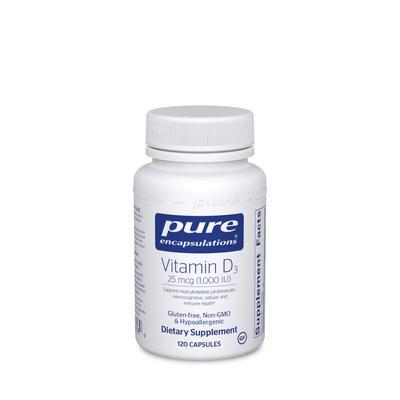 Pure Encapsulations Cardiovascular Support - Vitamin D3 1,000 IU - 120