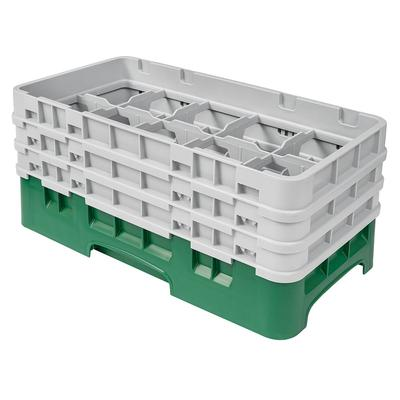Cambro 10HS638119 Camrack Glass Rack - (3)Extenders, 10 Compartments, Sherwood Green