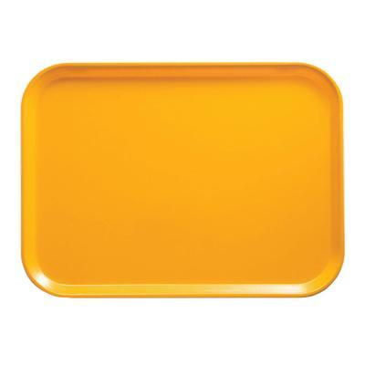 "Cambro 1318504 Fiberglass Camtray? Cafeteria Tray - 17 3/4""L x 12 3/5"" W, Mustard"