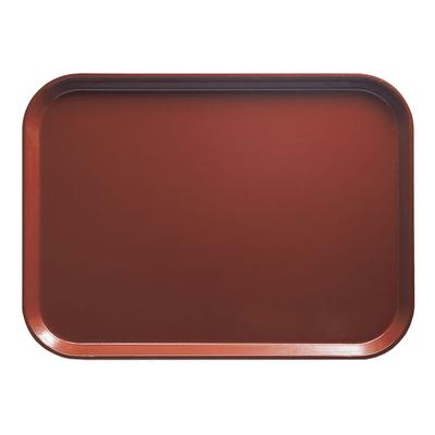 """Cambro 1418501 Fiberglass Camtray? Cafeteria Tray - 18""""L x 14""""W, Real Rust"""