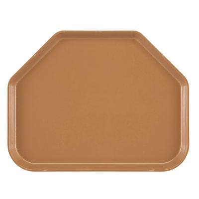 "Cambro 1520TR508 Fiberglass Camtray? Cafeteria Tray - 19 1/2""L x 14 1/2""W, Suede Brown"