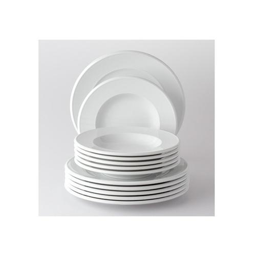 Retsch Arzberg Tafelservice Novo, (Set, 12 tlg.), Made in Germany weiß Geschirr-Sets Geschirr, Porzellan Tischaccessoires Haushaltswaren