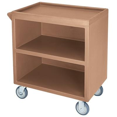 """Cambro BC330157 33 1/8""""L Polymer Bus Cart w/ (3) Levels, Shelves, Beige"""