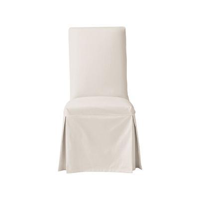 Parsons Chair Slipcover - Ballard Essential Natural Linen - Ballard Designs