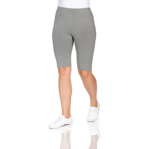 Sheego Radlerhose, mit hohem Baumwollanteil grau Damen Kurze Hosen Radlerhose