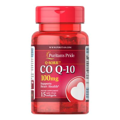 Puritan's Pride Q-SORB Co Q-10 100 mg Trial Size-15 Rapid Release Softgels